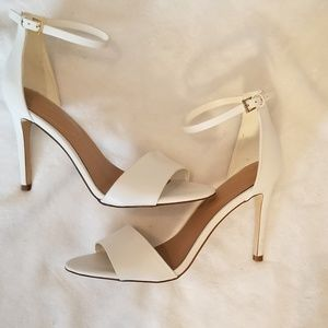 New Aldo White peep toe heel sandals